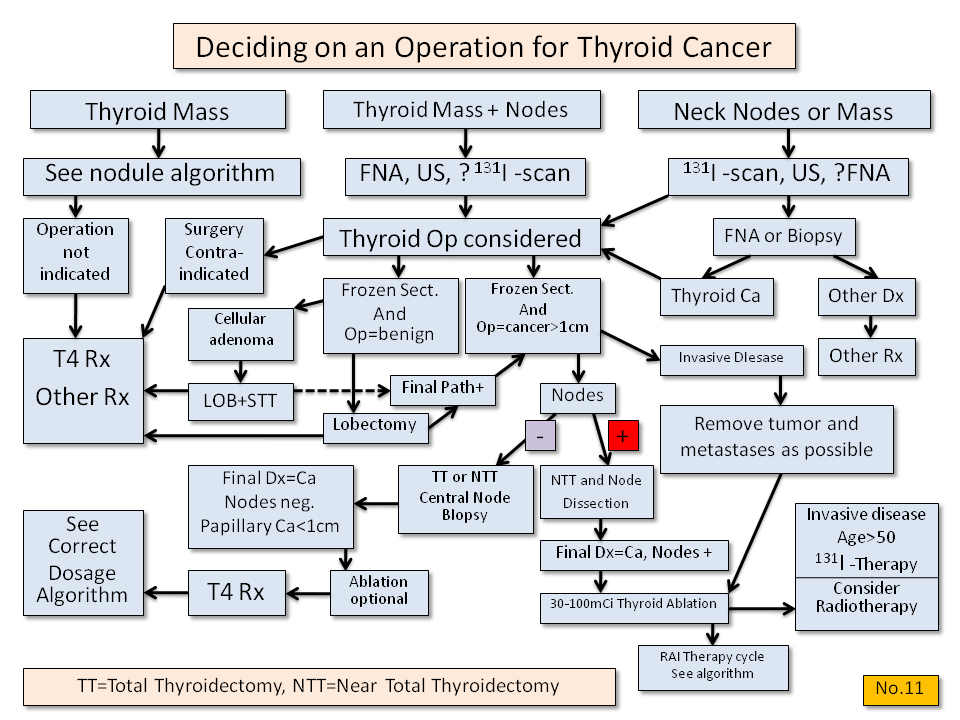 Deciding on Operation for Thyroid Cancer - Thyroid Disease Manager Algorithms